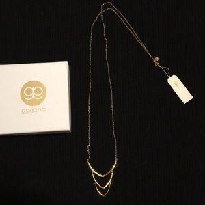 Gorjana Amanda triple crescent necklace.